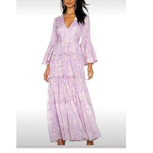 Free People Carmen Tie Back Maxi Dress Lilac. S